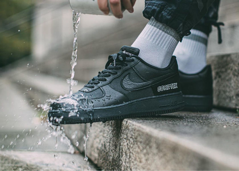 Image of Nike Air Force 1 Gore Tex Black