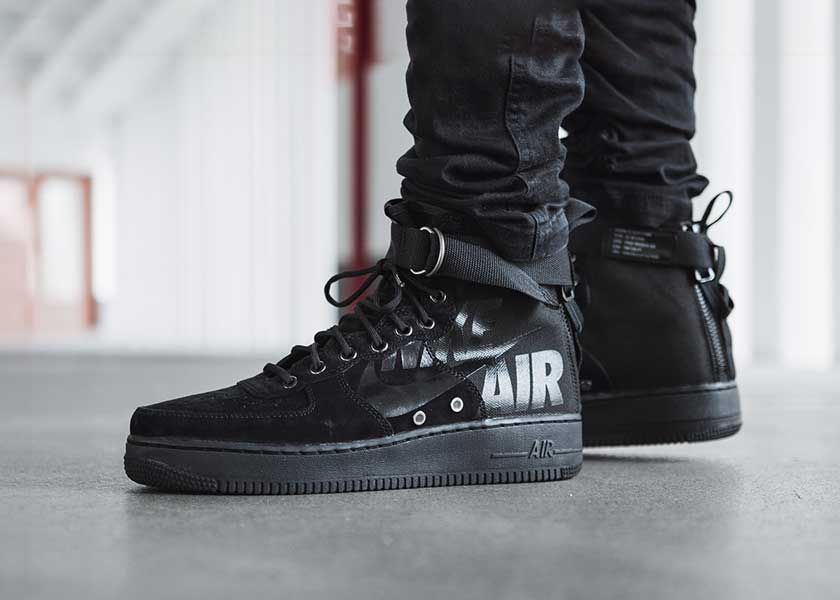 Image of Nike SF Air Force 1 Mid Black