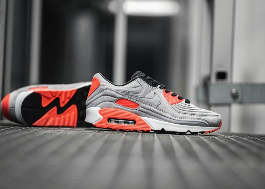 Nike Air Max 90 Night Silver Bright Crimson