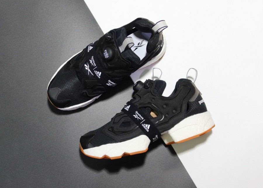 Reebok Instapump Fury Boost Black White Gum