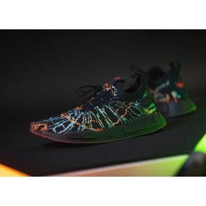 Adidas NMD R1 Primeknit Black Multicolor